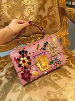 Wholesale new fashion top quality women beautiful blingbling rhinestone pink blue two colour shoulder bag female party evening bag