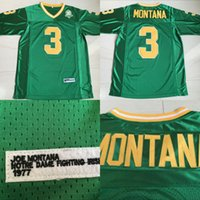 Wholesale Notre Dame Fighting Irish Joe Montana College Jerseys Men s Stitched Embroidery Logos Throwback Jerseys Green S XL