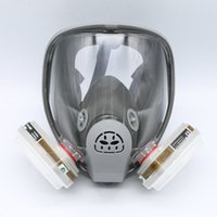 Cheap Wholesale-For 6800 Gas Mask Full Facepiece Respirator 7 PCS Suit Painting Spraying with 5N11 Filters and 6001CN Cartridge Grey