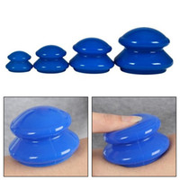 Wholesale 4pcs set Healthy Small Body Hijama Anti Cellulite Vacuum Silicone Massage Cup Cupping Cup Chinese Health Treatment Massage