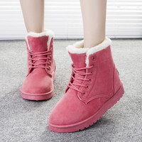 Wholesale 2016 Women Boots Warm Winter Snow Boots Fashion Platform Ankle Boots For Women Shoes Black Botas Femininas