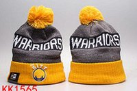 Wholesale 2017 factory price Warriors Beanies Golden State Caps Baseball Sport Adult Knit Hat Pom Knit Hats Mix Match Order All Caps