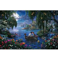 Wholesale Thomas Kinkade Landscape Oil Painting Prints on Canvas Wall Art Picture for Living Room Home Decorations Unframed Y