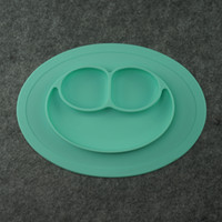 Wholesale Fashion Suction to table Silicone Baby Feeding Placemat Baby Silicone placemat Silicon plates by DHL free F023
