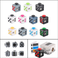 Wholesale 11 Colors Magic Fidget Cube Anti anxiety Decompression Toy Adults Stress Relief Kids Toy Gift In Stock Fast DHL Shipping