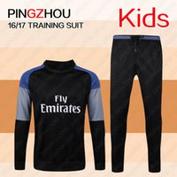 Wholesale 2016 real madrid kids Tracksuits top quality Training suit BENZEMA JAMES BALE kids Running Wear jacket