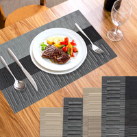 Wholesale 4Pcs Placemat Europe PVC Dining Table Mats Disc Pads Waterproof Slip resistant Pad Home Kitchen Table Decoration Accessories