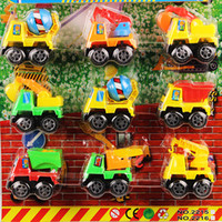 Wholesale Board inertia sliding engineering vehicle toy car sets cement tanker excavator trailer dump truck