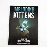 Wholesale Board Games Exploding Kitten Toy Card And NEW Imploding Kittens Funny Toys This Is First Expansion of Exploding Kitten Gift