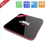 Wholesale 1PC H96 Pro Amlogic S912 Octa Core Android6 TV BOX GB GB Octa Core m LAN G G WiFi BT4 Kodi