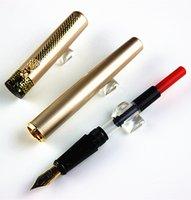 Logo d'entreprise cadeaux France-Vente en gros- DIKA WEN Stylo plume en métal pour stylo à encolure pour entreprise Rédaction de cadeaux Personnaliser Engrave Logo Livraison gratuite