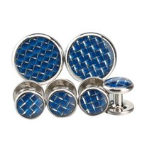 Wholesale Argositment Fashion Cufflinks and Studs Set for Men with Packing cufflinks Studs