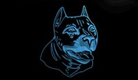 american pits - LS1775 b American Pit bull Dog Terrier Neon Light Sign jpg