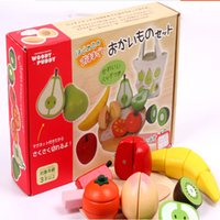 Wholesale wooden toys play food pretend play cutting vegetable and fruit