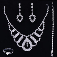 big cheap jewelry - Big Discount Styles Statement Necklaces Cheap Unique Rhinestones Wedding Bridal Bridesmaids Jewelry Earrings Set for Party Prom