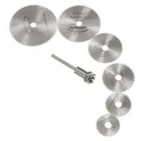 Crimping Tools Socket Wrench Stainless Steel Hot 7pcs set HSS Circular Saw Blade Woodworking Cutter Discs Wood Cutting For Dremel Rotary Tool Mandrel Set Best Price