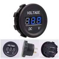 Wholesale New Waterproof Car Motorcycle Blue LED Digital Display Voltmeter Volt V V M00159