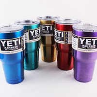 Wholesale High quality Yeti oz Rambler Tumbler Bilayer Stainless Steel Insulation Cup OZ Cups Cars Beer Mug Large Capacity Mug Tumblerful