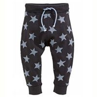Wholesale Cotton Straight Boys Pants Cartoon Stars Elastic Waist Harem Pants Kids Trousers for Spring and Fall