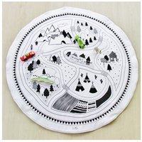 Precio de Los niños juegan-Algodón Kids Juego Mats Baby Manta de rastreo Ronda Juego Mat Juegos para niños Rug Juegos de carreras Alfombra Infant Room Juguetes Play Carpet