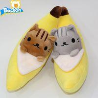 banana cat toy - styles Cartoon Lovely Banana Neko Cat Plush Doll Soft Stuffed Toys Baby Kids Sleeping Toy cm Animal Doll Gift for Children