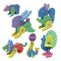 Wholesale D Animal Puzzle DIY Handmade Puzzle Jigsaw Toys for Children Creative EVA Foam Puzzle Kids Intelligence Development Toys