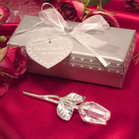 Wedding Clear Party Favor (100pcs lot)Bridal Shower Favors Choice Crystal Long Stemmed Rose Wedding Party Giveaway Souvenir Gift For Guest+FREE SHIPPING