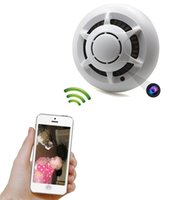 Pinhole CMOS Wireless HD 1080p P2P Wifi Hidden Camera Smoke Detector Spy IP Camera Video Recorder Indoor DV Camcorder Support IOS Android APP Remote View