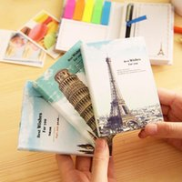 Wholesale New Vintage City Scenery series sticky notepad set with pen Memo message post stick marker label