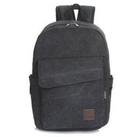 Wholesale The new canvas backpack fashion big cover front pocket leisure bag computer bag practical students