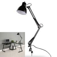 Wholesale Black Flexible Swing Arm Clamp Mount Lamp Office Studio Home Table Desk Light Sophisticated Black LEG_30G