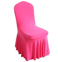 chaise spandex plissée achat en gros de-Universal Spandex Chair Covers China Pour Mariage Décoration Party Wedding Ruched / plissé Spandex Ruffled Chair Cover