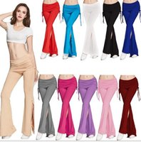 active boots - New Women s Flares Pants Spring Summer Fashion Cotton Boot Cut Trousers Yoga Pants Sports Long Loose Pant SPortswear Black Red Green