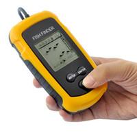 Wholesale Outdoor Sport Portable Sonar LCD Tester Fish Finder Alarm Depth M Ice Transducer Fishing Finder Ultrasound Visualizationl