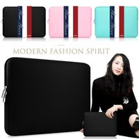 """Wholesale Cover For Apple Macbook Pro - Macbook Sleeve 13 Inch 11.6 12 15.4-Inch Laptop Sleeve Air Pro Retina Display 12.9"""" iPad Soft Case Cover Bag for Apple Samsung Notebook"""