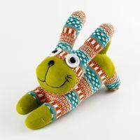 al por mayor juguete conejo de felpa bricolaje-Regalo de cumpleaños para niños juguetes creativos calcetines muñecas celosía conejo DIY productos acabados PP algodón juguetes de peluche