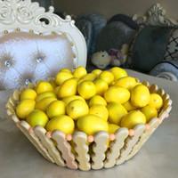artificial lemons - 100Pcs Foam Lemon Christmas Decorations Artificial Fake Fruit Ornaments Wedding Party Home Decro Cognitive Toy Dining Table Mold