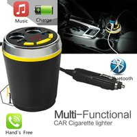 Radio Tuner   Car Cigarette Lighter MP3 Charger Socket with LED Screen Car Wireless Vehicle Multi-functional Power Adapter Compatible with MP3 Smartphone