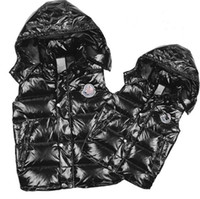 bamboo neck - Classic Men and women brand winter down vest feather weskit jackets womens casual vests coat outer wear size S XXXL