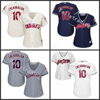 baseball transfers - New transfer Edwin Encarnacion Jersey Cleveland Indians Jersey Edwin Encarnacion Women Stitched Embroidery Baseball Jersey