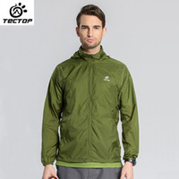 Wholesale TECTOP New Running Quick Dry Breathable Super Thin Jackets Men Outdoor Waterproof Anti UV Summer Skin Jackets for Hiking
