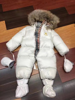 Wholesale 2016 winter cotton paded baby romper thick external wear Fur Collar Baby Jumpsuit