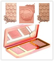 Wholesale New Arrivals hot new Sweet Peach Glow infused Bronzers Highlighters makeup blush palette in stock