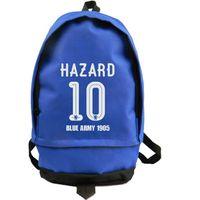 badminton field - Eden Hazard backpack Blue army school bag Soccer field daypack Football schoolbag Outdoor rucksack Sport day pack