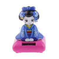 Wholesale Random Color Solar Power Bobblehead Toy Figure Nohohon Japanese Kimono Maiko Geisha B