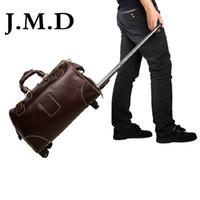 Wholesale J M D New Arrival Men s Cow Leather Drawbars Travel Bags Handbags