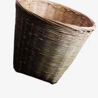 bamboo trash - Bamboo weaving garbage can trash can receive special environmental bamboo basket wastepaper basket basket home health office hotel