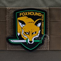 Wholesale FOXHOUND Patch Tactical PVC Patches SPECIAL FORCE GROUP Combat Hook And Loop Armband Badge