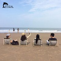 Wholesale Portable Folding Fishing Chair Seat for Outdoor Camping Leisure Picnic Beach Chair Fishing Tools Lightweight Moon Chairs