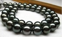 Wholesale bjc Details about Excellent AAA quot SOUTH SEA mm tahitian black pearl necklace K Gold Clasp